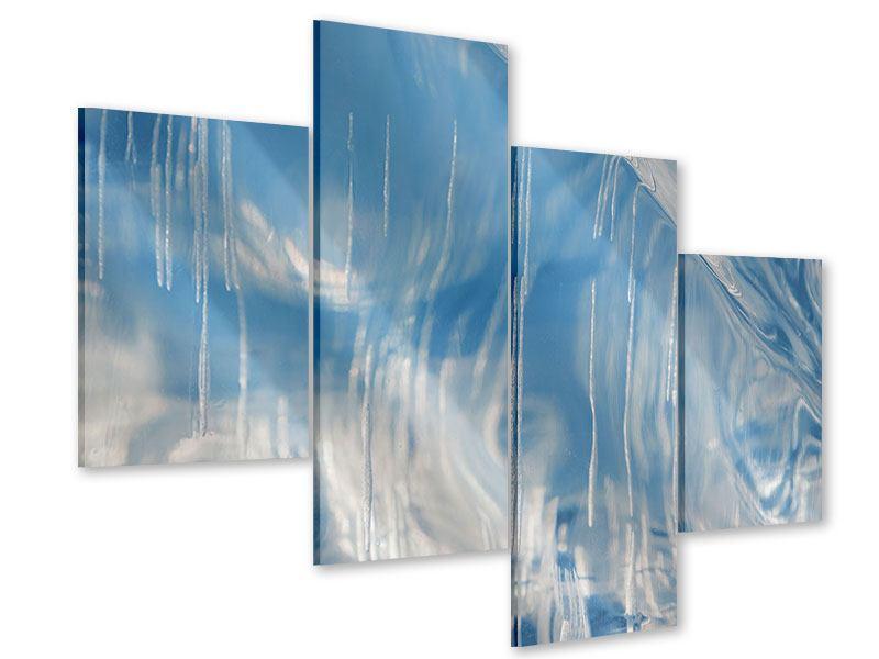 Acrylglasbild 4-teilig modern Das Eis des Baikalsees
