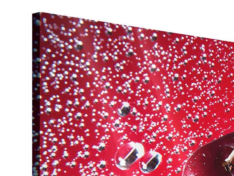 Acrylglasbild 4-teilig modern Die Kirsche