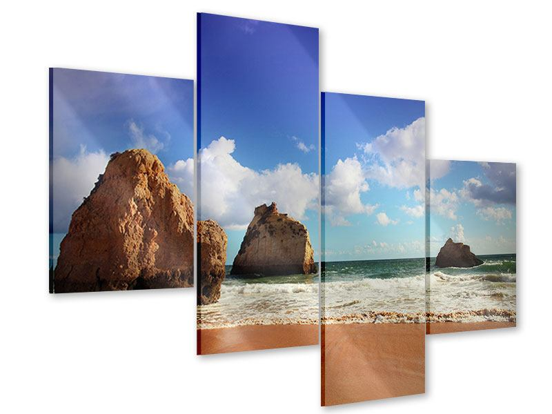 Acrylglasbild 4-teilig modern Strandgedanken