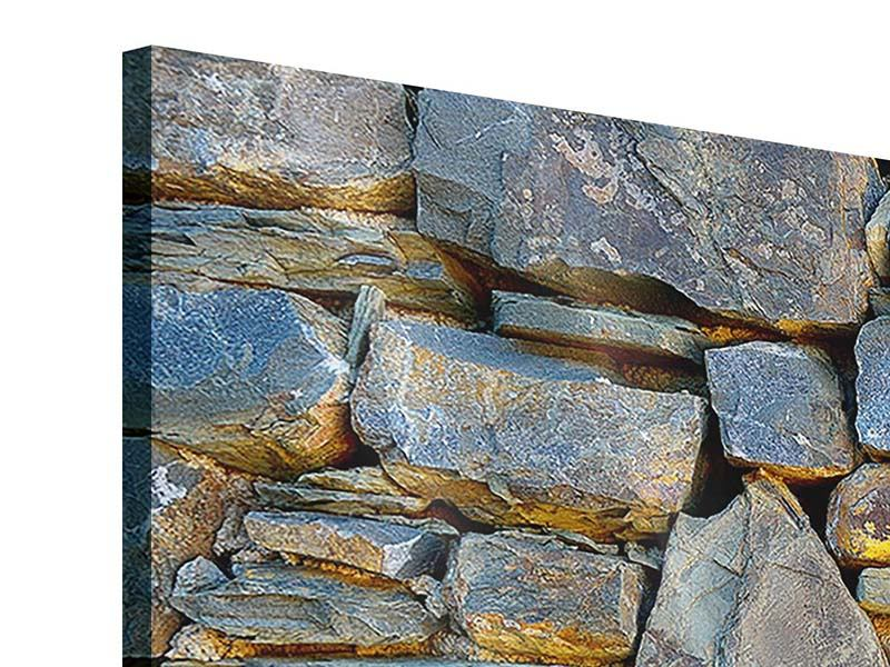 Acrylglasbild 4-teilig modern Natürliche Steinmauer