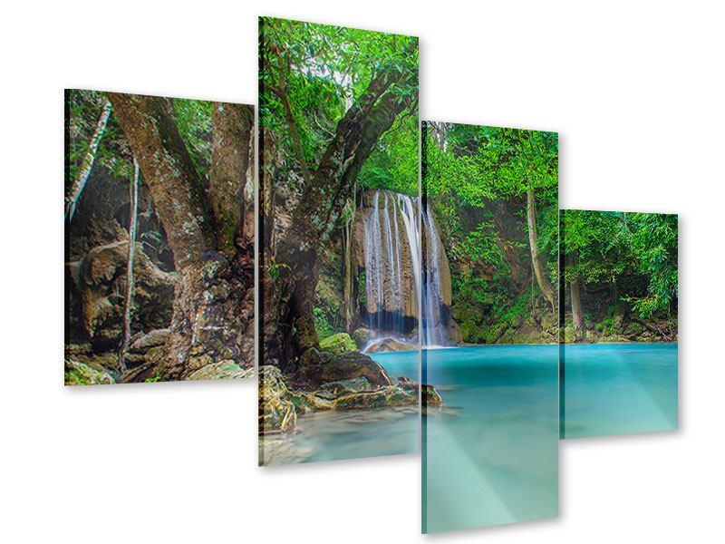 Acrylglasbild 4-teilig modern Fliessgewässer