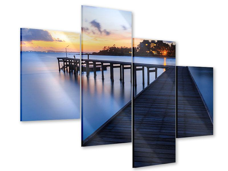 Acrylglasbild 4-teilig modern Inseltraum
