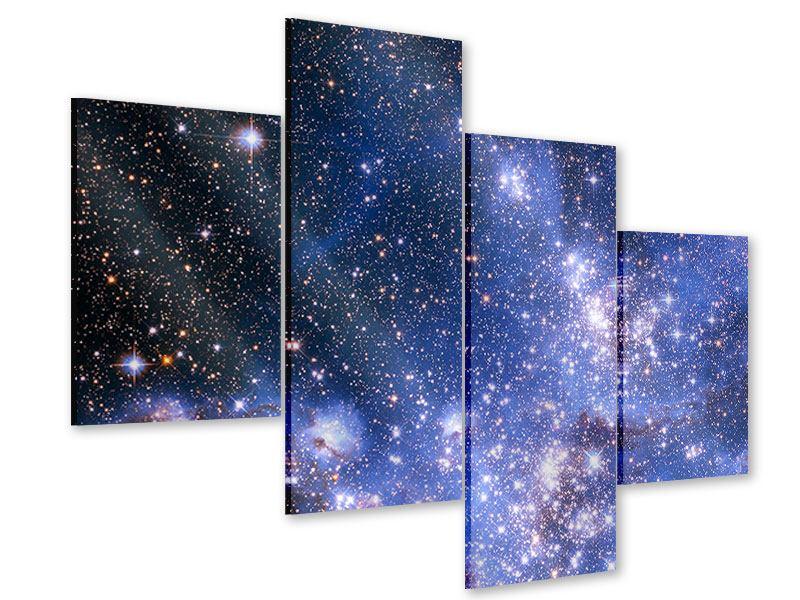 Acrylglasbild 4-teilig modern Sternenhimmel
