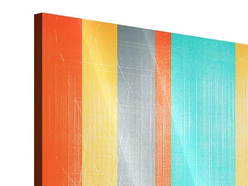 Acrylglasbild 4-teilig modern Grunge Streifen