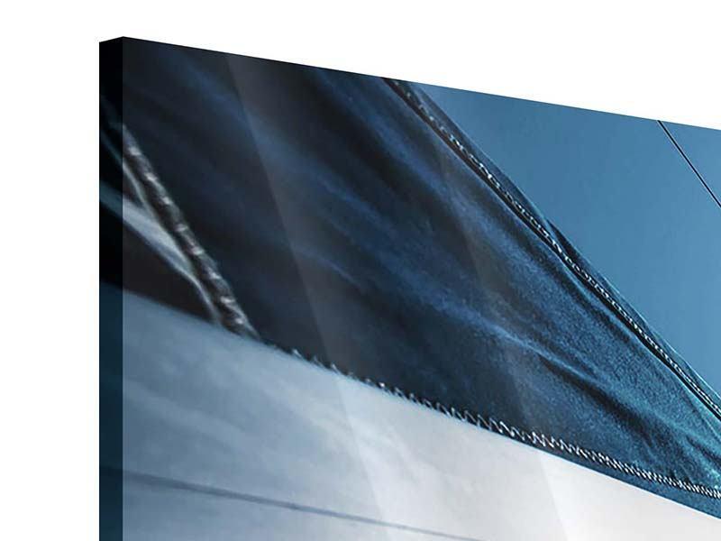 Acrylglasbild 4-teilig modern Segelschiff Close Up