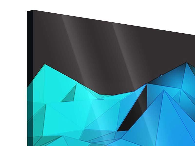 Acrylglasbild 4-teilig modern 3D-Diamonds