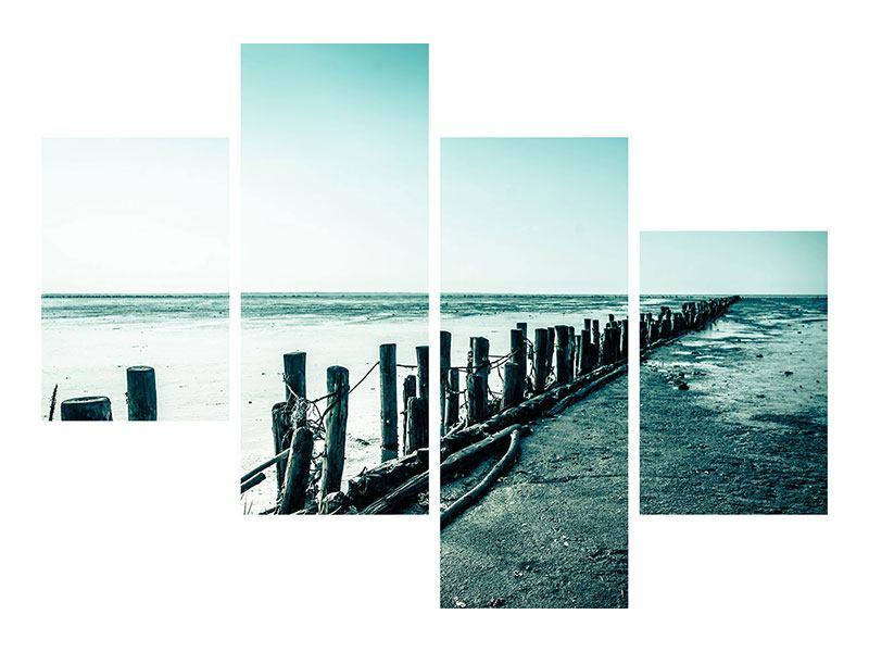 Acrylglasbild 4-teilig modern Das Wattenmeer