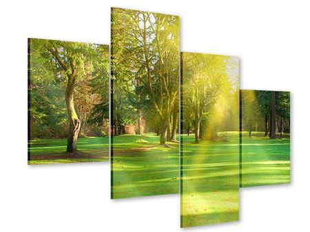 Acrylglasbild 4-teilig modern Im Park