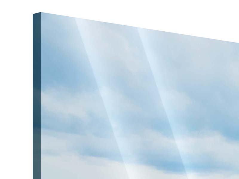 Acrylglasbild 4-teilig modern Ozean-Steg