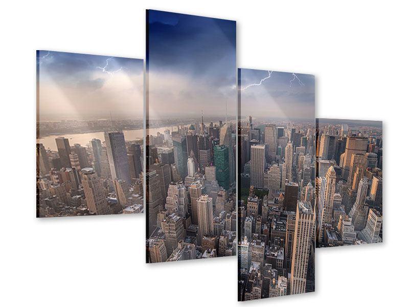 Acrylglasbild 4-teilig modern Manhattan