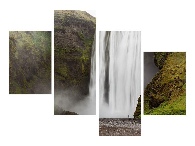 Acrylglasbild 4-teilig modern Skogafoss