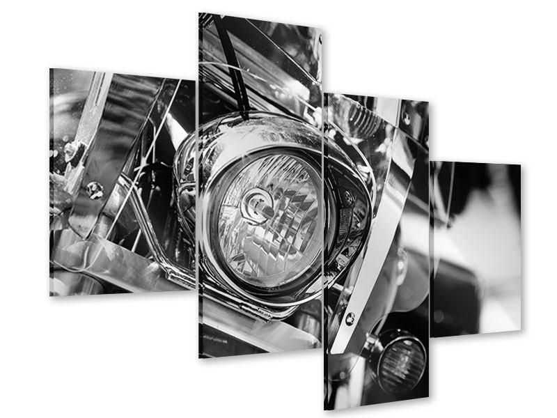 Acrylglasbild 4-teilig modern Motorrad Close Up