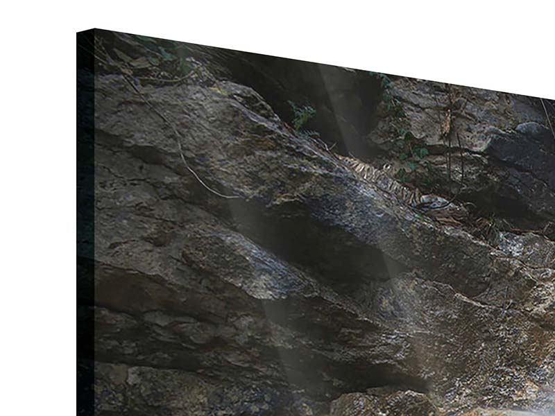 Acrylglasbild 4-teilig modern Imposanter Wasserfall