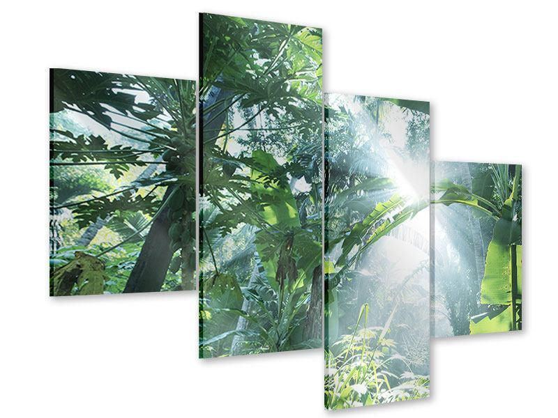 Acrylglasbild 4-teilig modern Dschungelstar