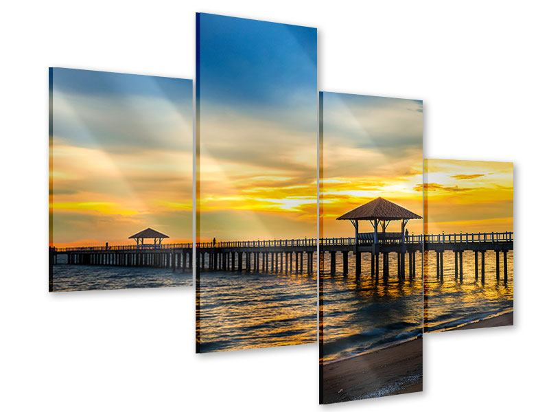 Acrylglasbild 4-teilig modern Brücke der Liebe