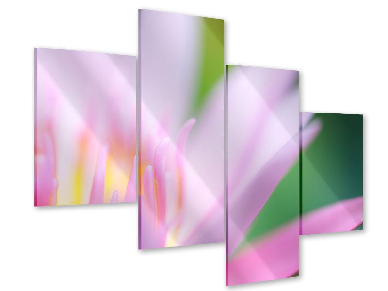 Acrylglasbild 4-teilig modern XXL-Lilie