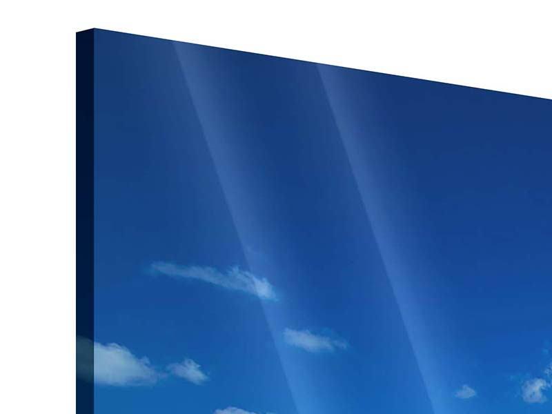 Acrylglasbild 4-teilig modern Happy Beach