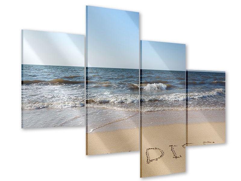 Acrylglasbild 4-teilig modern Sandspuren