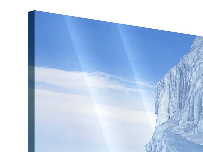 Acrylglasbild 4-teilig modern Eislandschaft Baikalsee