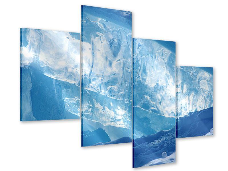 Acrylglasbild 4-teilig modern Baikalsee-Eis