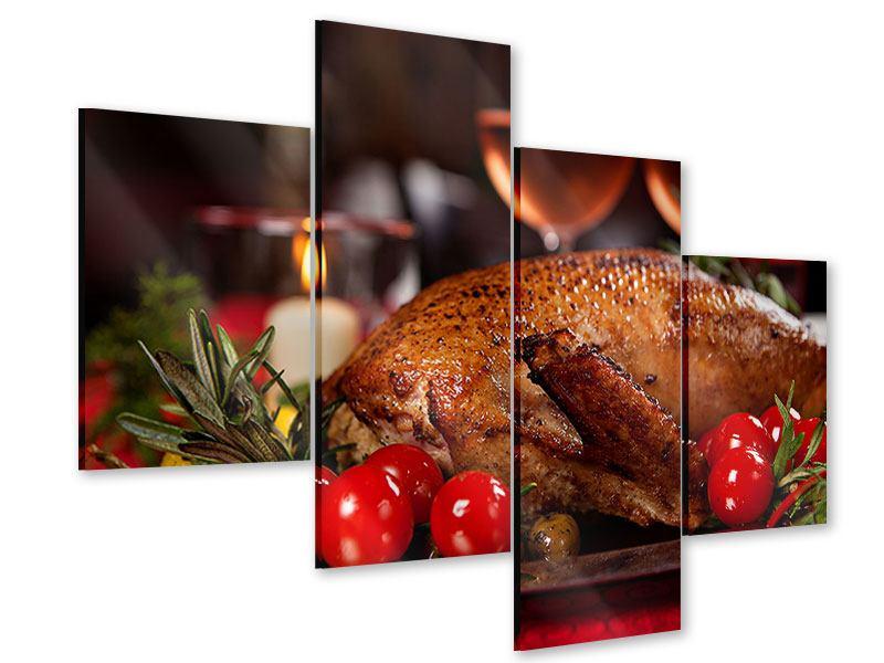 Acrylglasbild 4-teilig modern Köstliches Geflügel