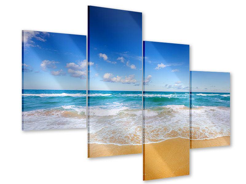 Acrylglasbild 4-teilig modern Die Gezeiten und das Meer
