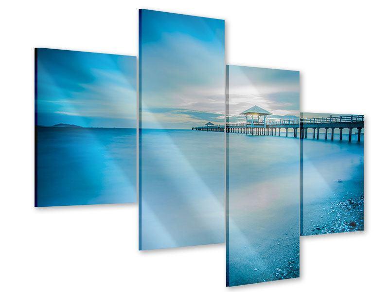Acrylglasbild 4-teilig modern Brückenimpression