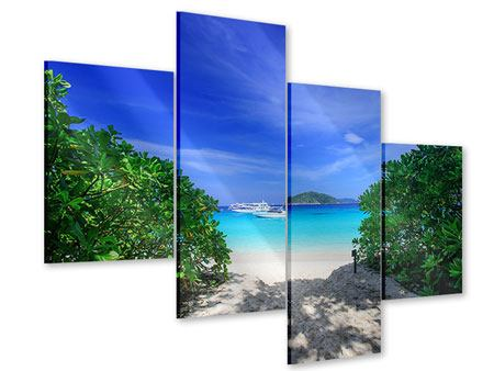 Acrylglasbild 4-teilig modern Similan-Inseln
