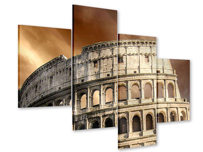 Acrylglasbild 4-teilig modern Kolosseum Rom
