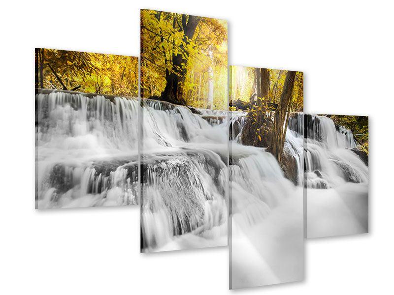 Acrylglasbild 4-teilig modern Wasser in Aktion