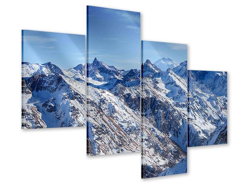 Acrylglasbild 4-teilig modern Gipfelspitzen