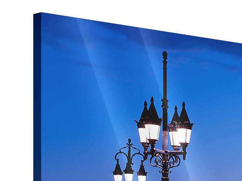 Acrylglasbild 4-teilig modern Pont De Pierre bei Sonnenuntergang