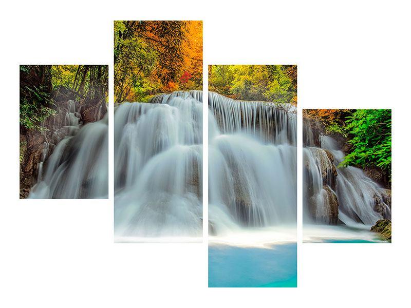 Acrylglasbild 4-teilig modern Fallendes Gewässer