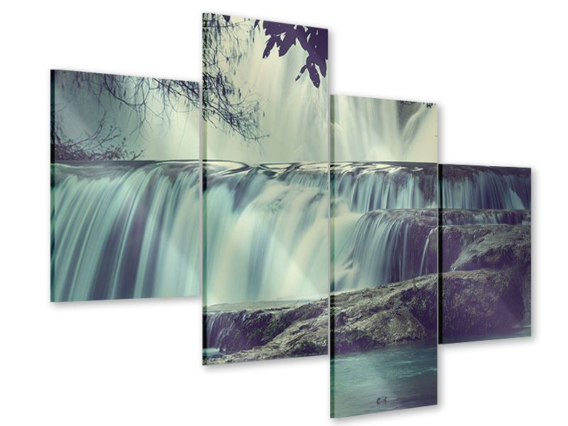 Acrylglasbild 4-teilig modern Wasserfall Mexiko
