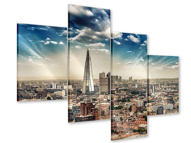Acrylglasbild 4-teilig modern Skyline Über den Dächern von London
