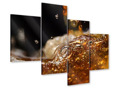 Acrylglasbild 4-teilig modern Cognac