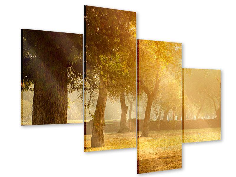 Acrylglasbild 4-teilig modern Romantik unter Bäumen