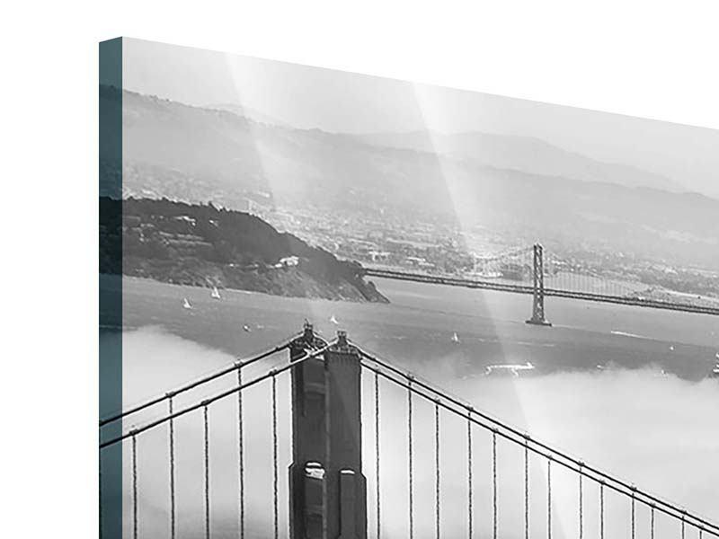 Acrylglasbild 4-teilig modern Golden Gate Brücke