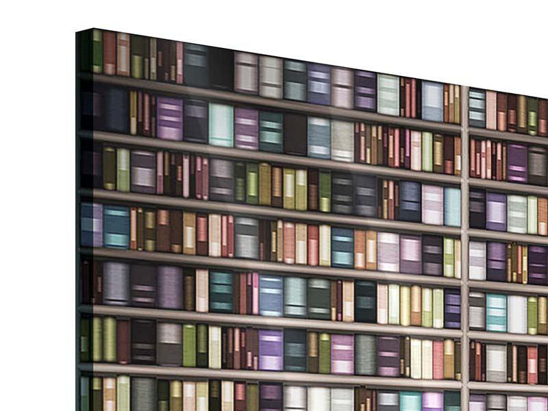 Acrylglasbild 4-teilig modern Bücherregal