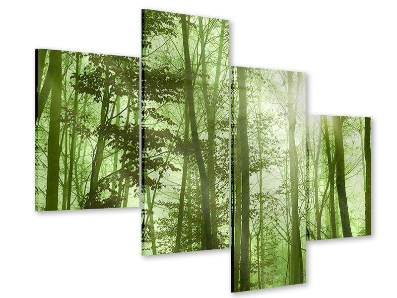 Acrylglasbild 4-teilig modern Nibelungenwald