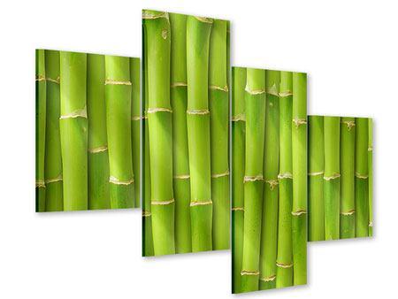 Acrylglasbild 4-teilig modern Bambuswand