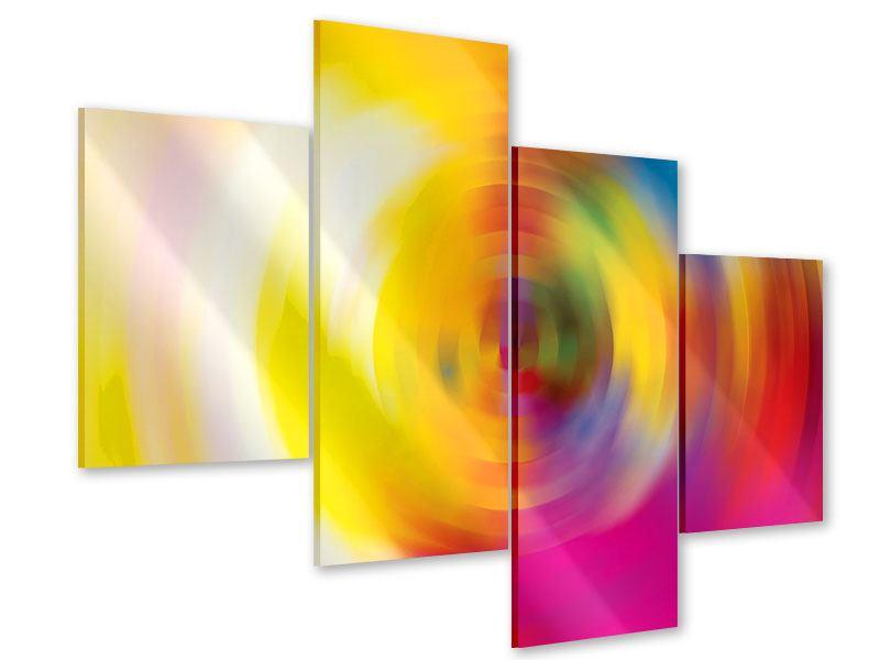 Acrylglasbild 4-teilig modern Abstrakte Farbkreise