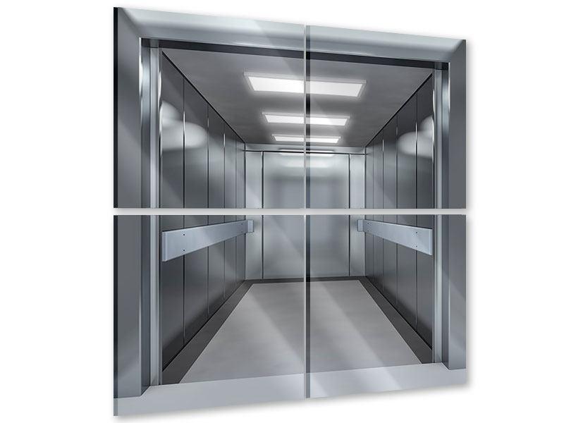 Acrylglasbild 4-teilig Aufzug