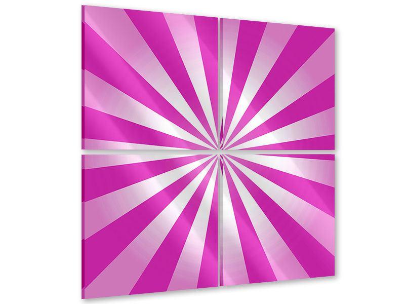 Acrylglasbild 4-teilig Abstrakt Lollipop