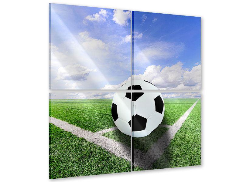 Acrylglasbild 4-teilig Eckball