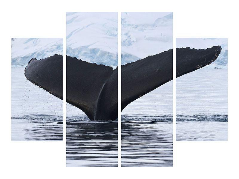 Acrylglasbild 4-teilig Der Buckelwal