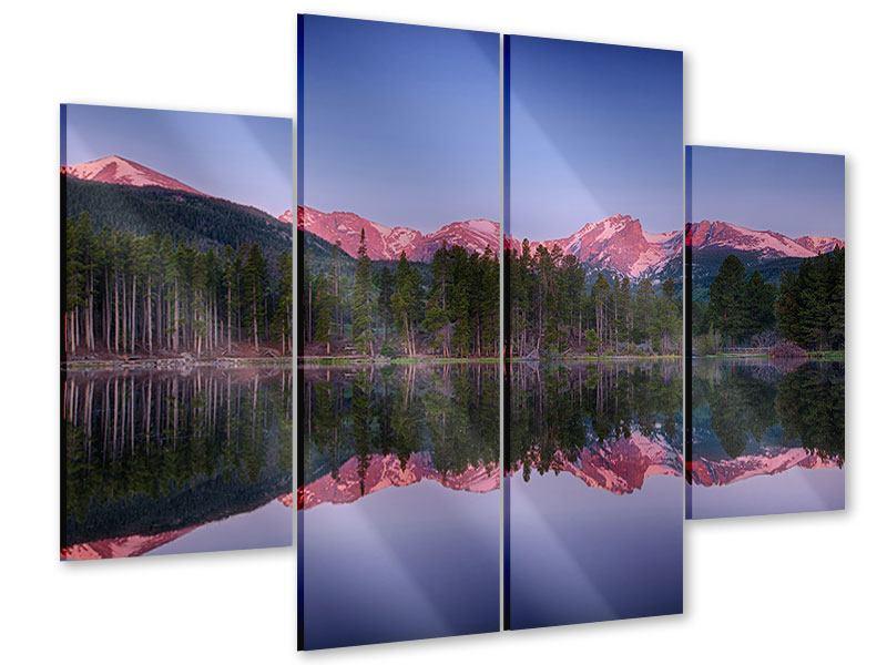 Acrylglasbild 4-teilig Sprague Lake-Rocky Mountains