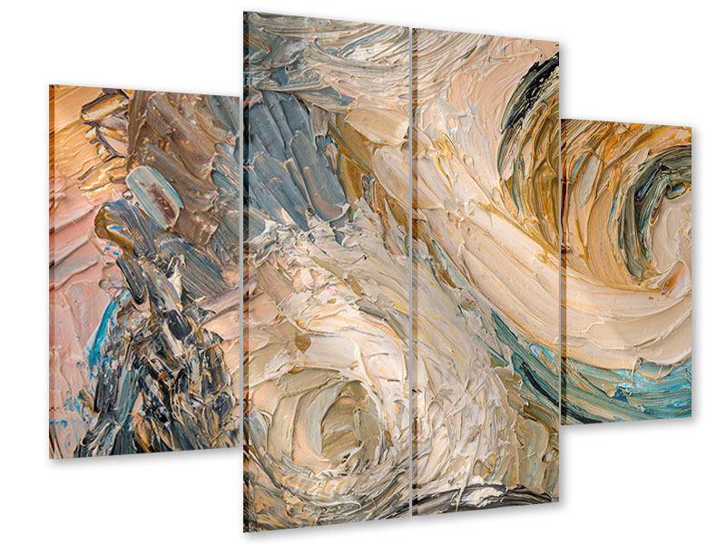 Acrylglasbild 4-teilig Ölgemälde