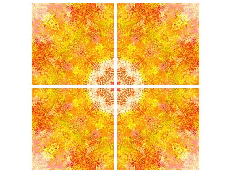 Acrylglasbild 4-teilig Star