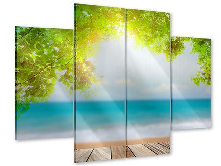 Acrylglasbild 4-teilig Strandterrasse